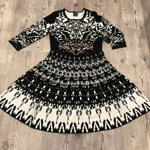 NEW Taylor Aztec Printed Sweater Dress